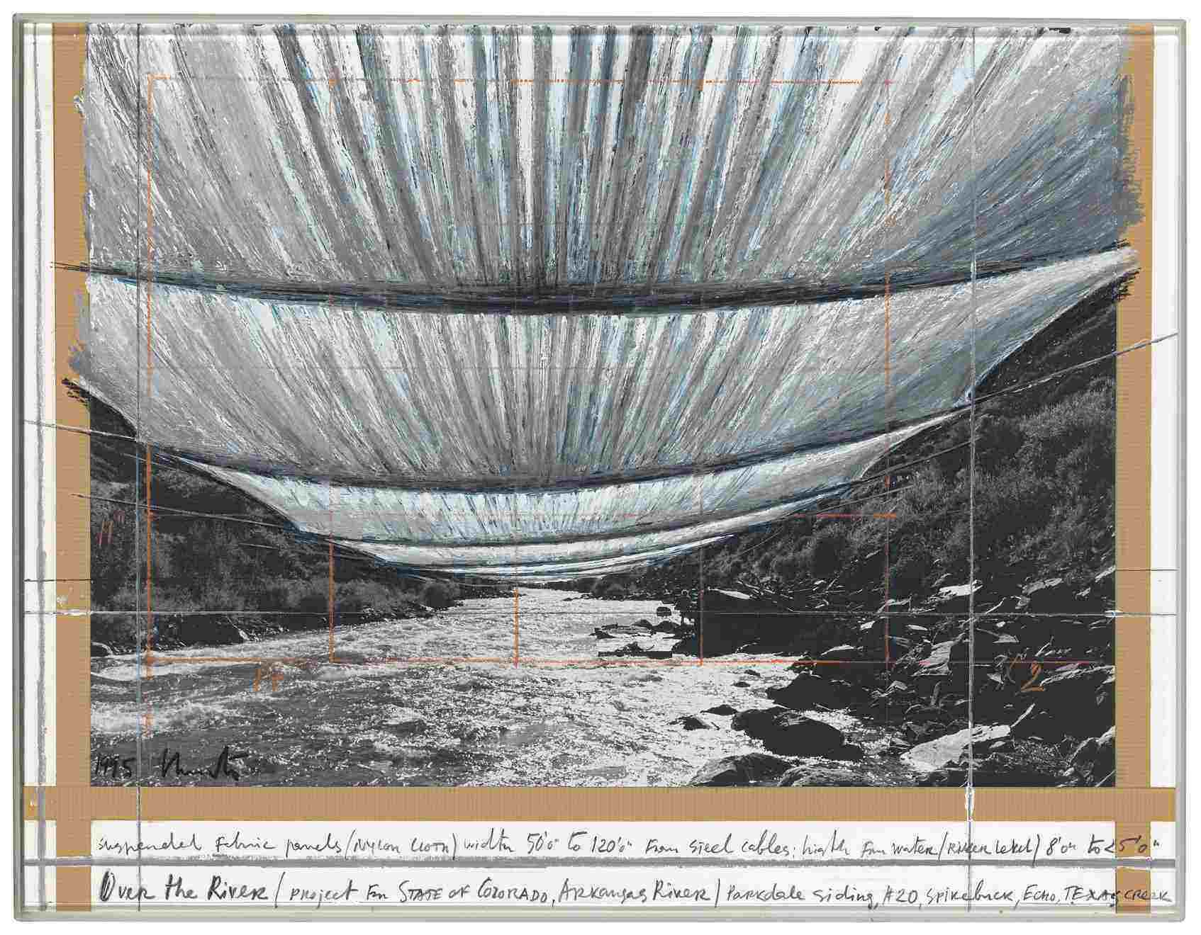 rsz chr 64 christo over the river 1995 mixed media on carboard 43x559cm